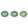 Plastic Trimming-stellina 5Yds 28x23mm Emerald Aurora Borealis